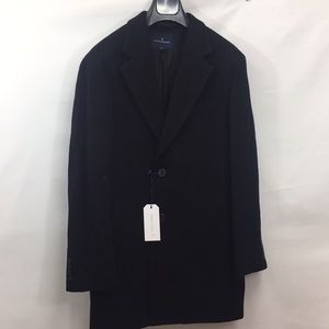 Buttoned Down Wool Cashmere Blend Overcoat
